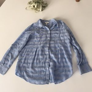 Blue and White Checkered Joie Button Down Size xs